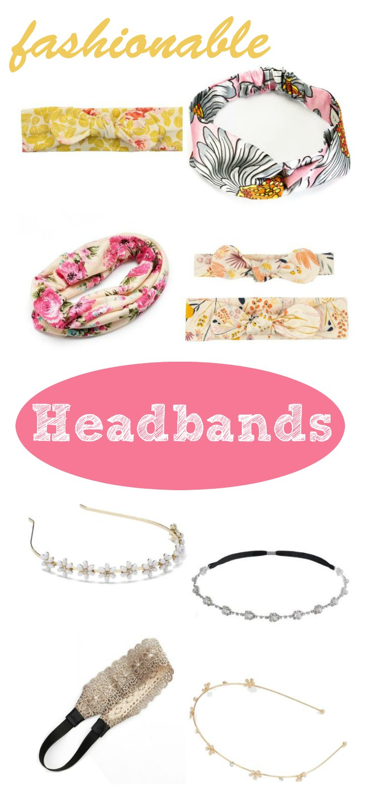Fashion Accessories Headbands: headbands fashionable hair accessories for spring and summer the best casual, prom, wedding choices for women, teens, and even Mom-baby