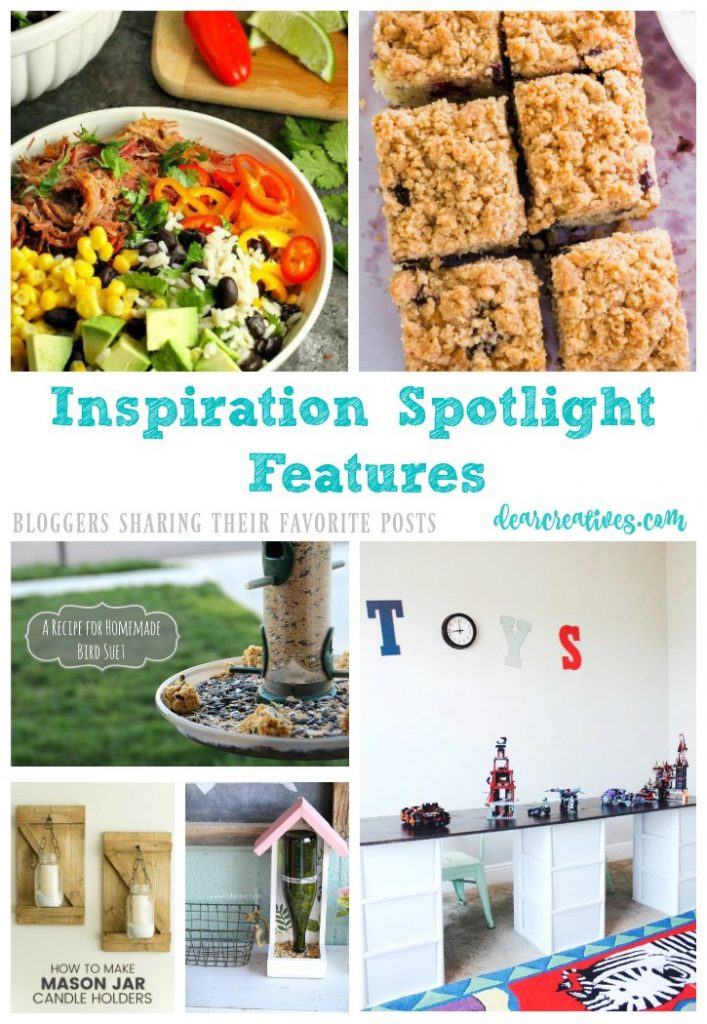 Inspiration Spotlight Linkup Party 243Crafts, DIY, home decor, recipes, beauty and fashion. Bloggers sharing their favorite blog posts.