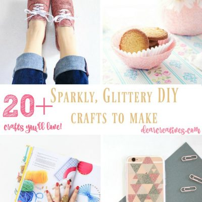 20 + Sparkly, Glittery DIY Crafts To Make And You'll Love Making!