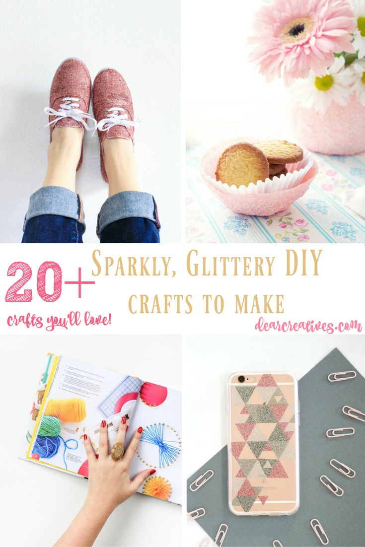 DIY Craft Projects 20 + Sparkly, Glittery DIY Crafts To Make You love picking through these craft projects and picking your favorite crafts to make!