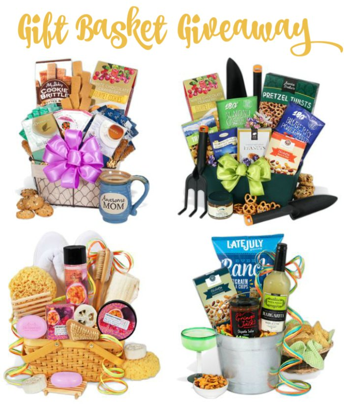 Gift Ideas for Mother's Day gift baskets so many to pick from. Find out more and enter the giveaway at DearCreatives.com #ad