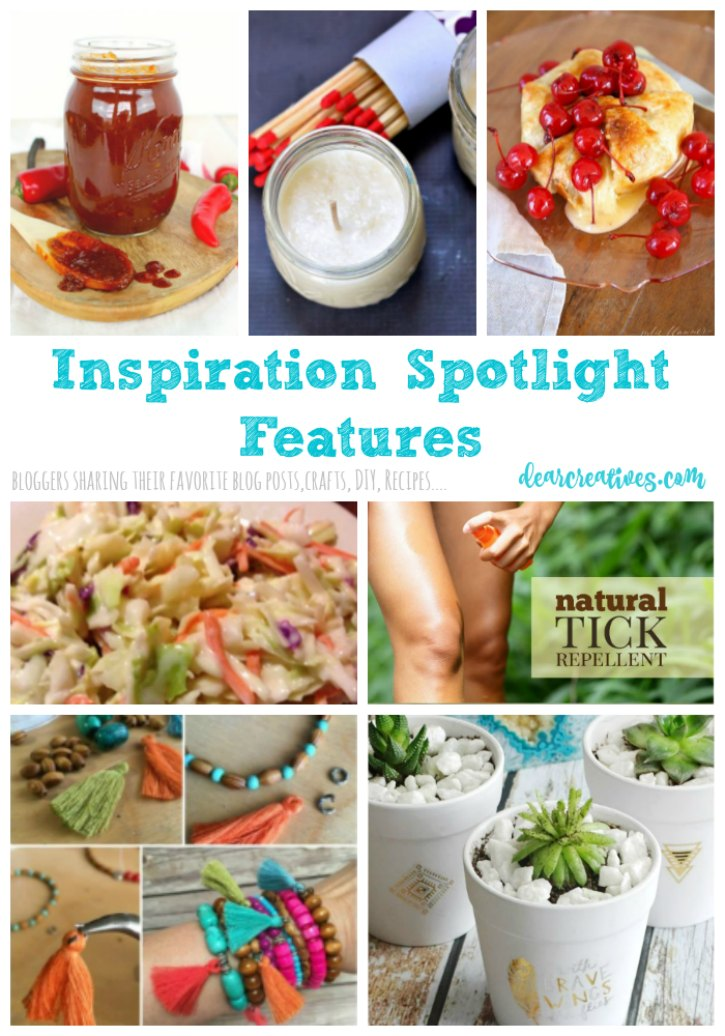 Inspiration Spotlight Linkup Party 246 Crafts, DIY, Home Decor, Recipes and More
