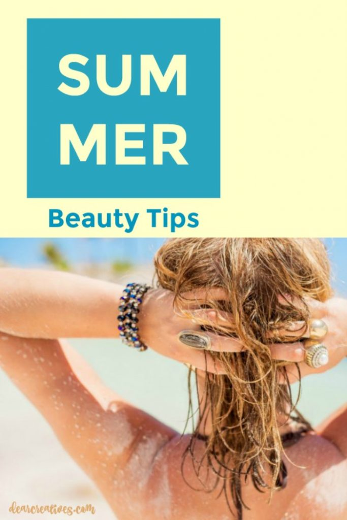 Beauty Tips for summer for your hair and skin. Don't let the summer humidity, heat or sun damage your skin and hair. See how you can prevent summer damage to your skin and hair.