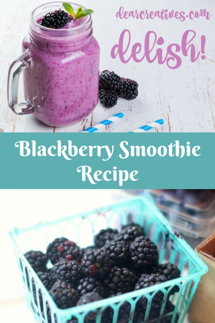 Blackberry Smoothie Recipe This is an easy smoothie recipe that is delicious and healthy. Easy to make with fresh fruits, juice and yogurt. Come see this and all our favorite smoothie recipes.