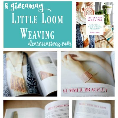 Crafts Craft book review Little Loom Weaving Books Worth Reading. This book is perfect for beginning to intermediate small loom weaving. Are you interested in small loom weaving Enter our giveaway and find out more about this craft book. #ad #giveaway #craftbookreview