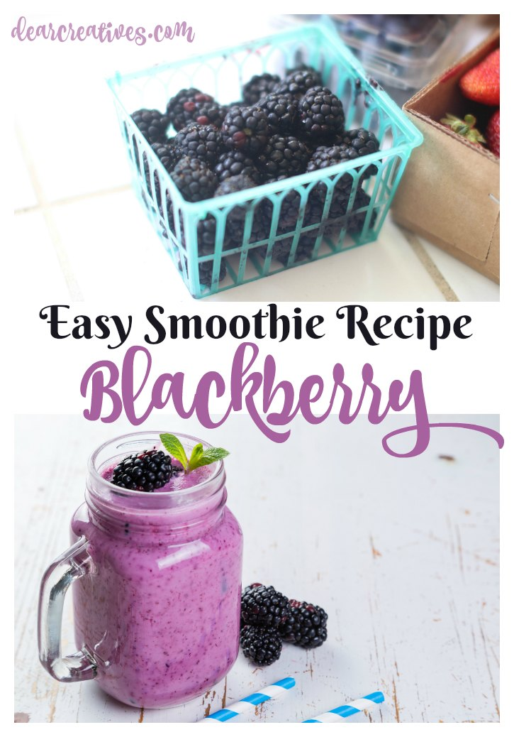 Easy Smoothie Recipe Blackberry Smoothie Recipe. This is a healthy smoothie recipe that is easy to make. You can enjoy this smoothie recipe any time of year.