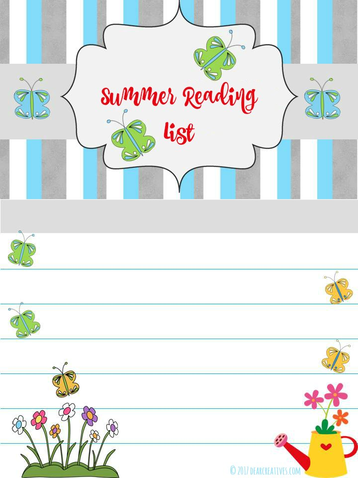 Free Printable Summer Reading List