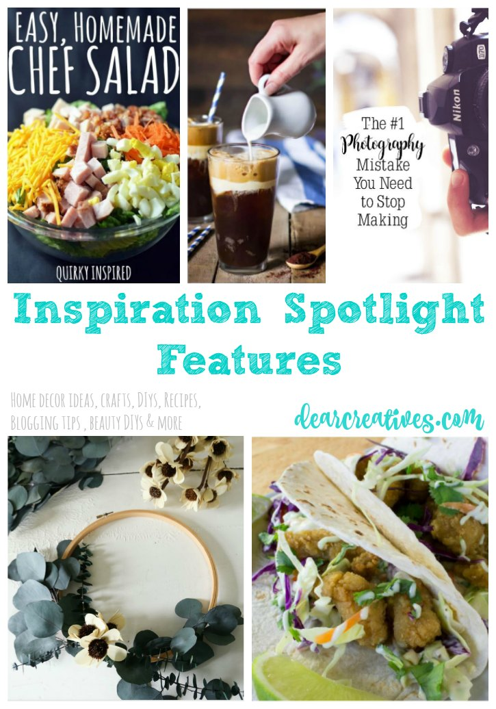 Inspiration Spotlight Linkup Party 248 Crafts, DIY, Home Decor, Recipes And More!