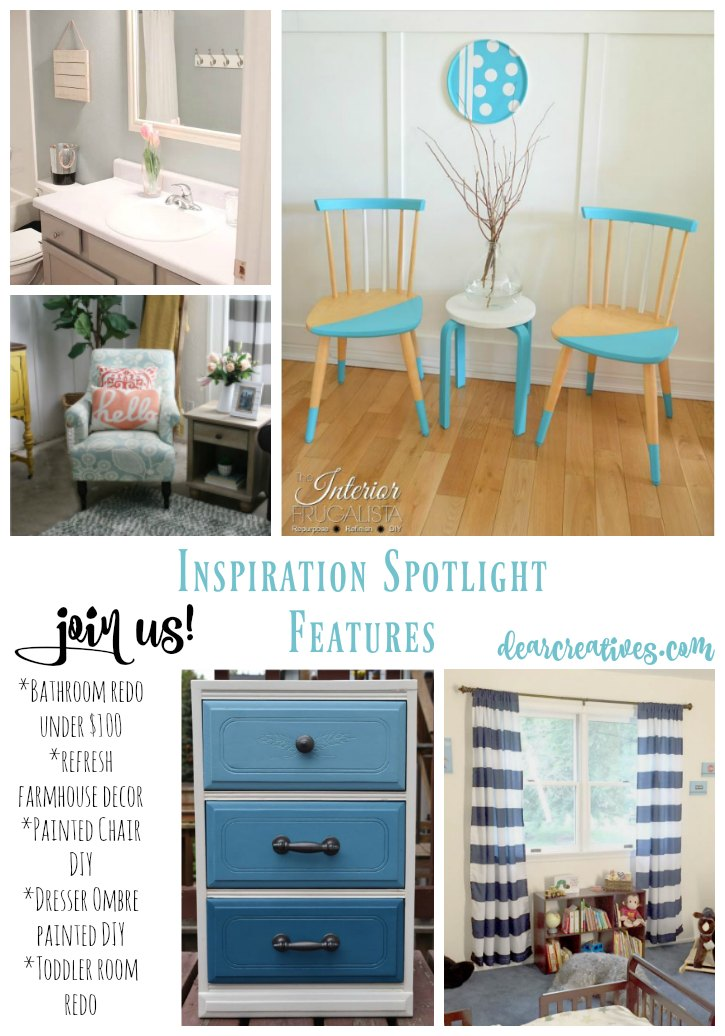 Linkup Party Inspiration Spotlight 252 Bloggers sharing their favorite blog posts. This week's features include home decor ideas and DIYs. You'll also find crafts, recipes, beauty, fashion and more.