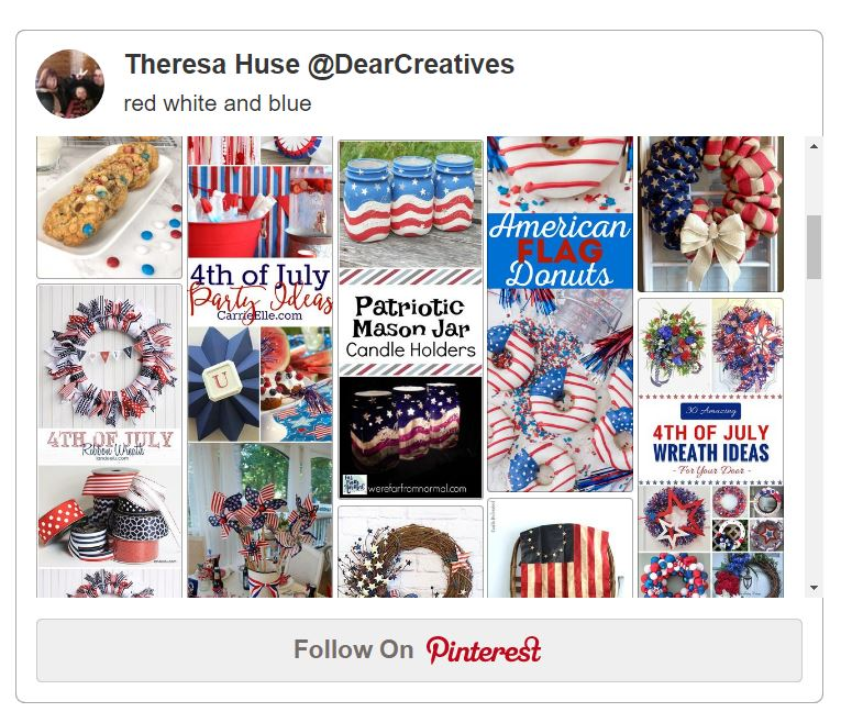 Patriotic Ideas: Crafts, DIYs, Party ideas and Recipes in red white and blue. Perfect for your 4th of July or other Patriotic celebrations. See all the ideas at DearCreatives.com
