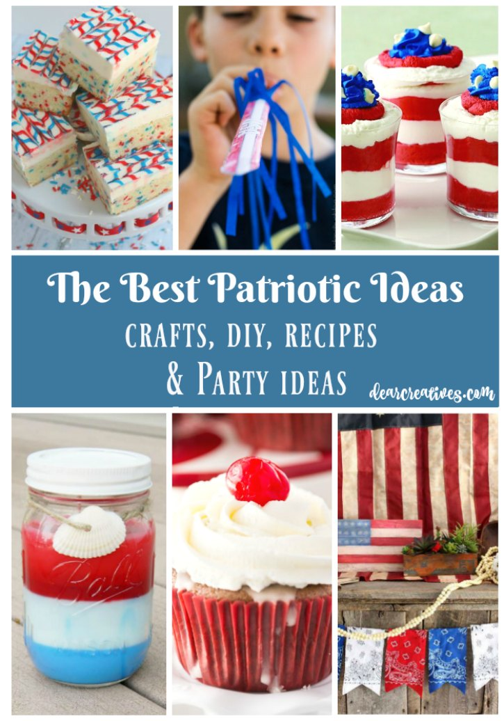 Inspiration Spotlight Linkup Party: The Best Patriotic Ideas Crafts, DIYs, Party Ideas and Recipes