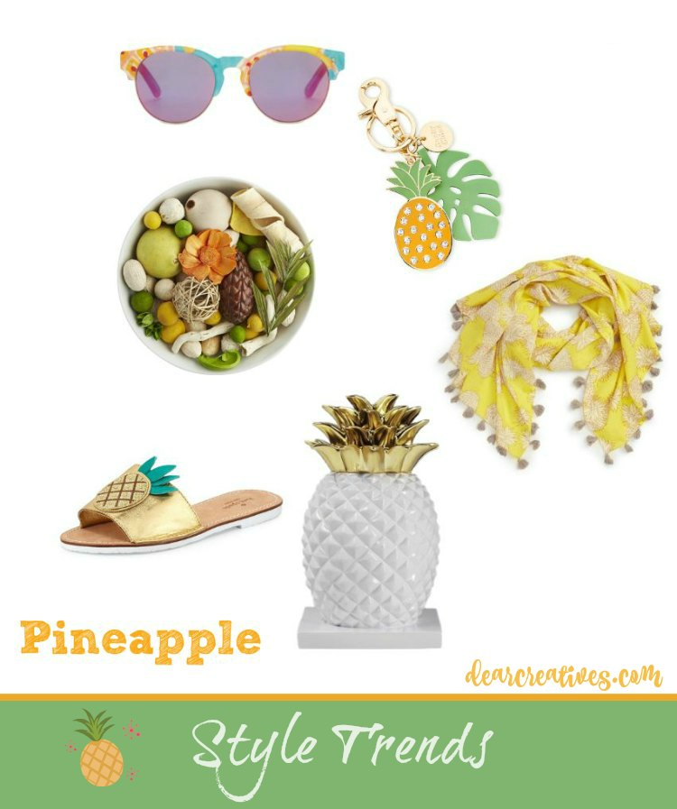 Style Trends Pineapple style trends for you and your home. Easy ways to add the pineapple trend style to your wardrobe or home.