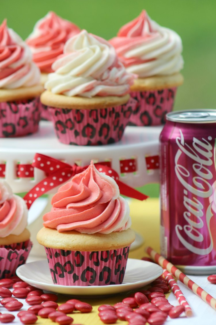 Cherry coke cupcakes baking recipe. You'll love making these from scratch. The recipe is for the cupcakes and the frosting. Pop by and add this to your must make cupcake recipes.