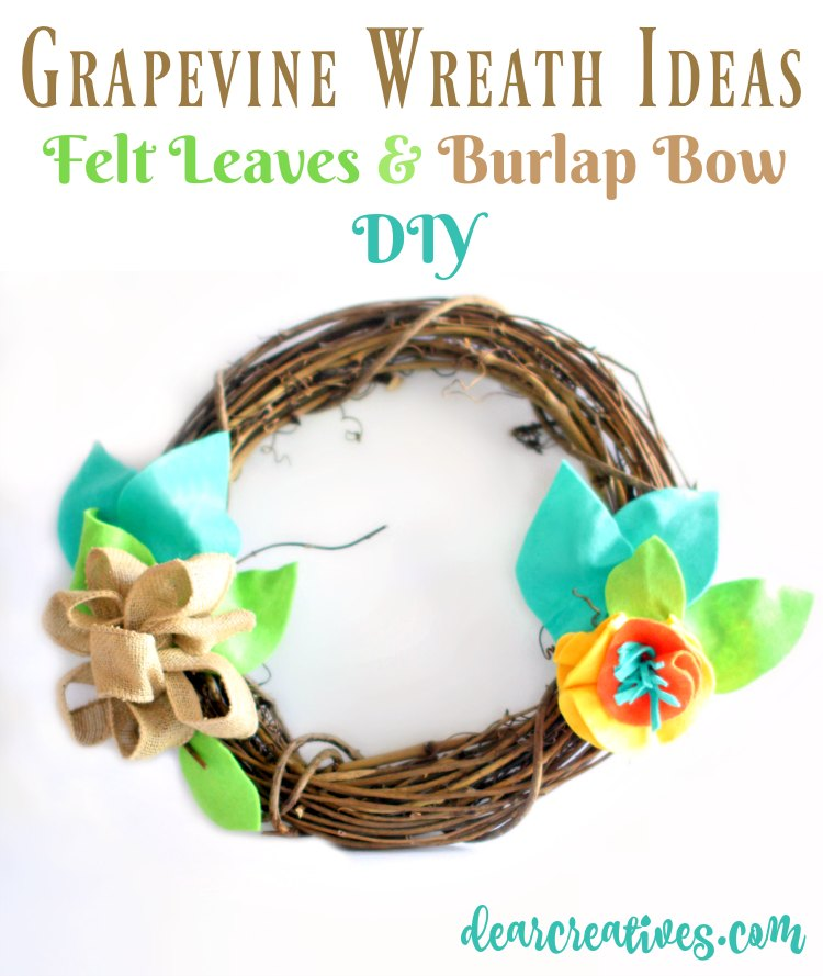 Grapevine wreath ideas how to decorate a grapevine wreath with felt.