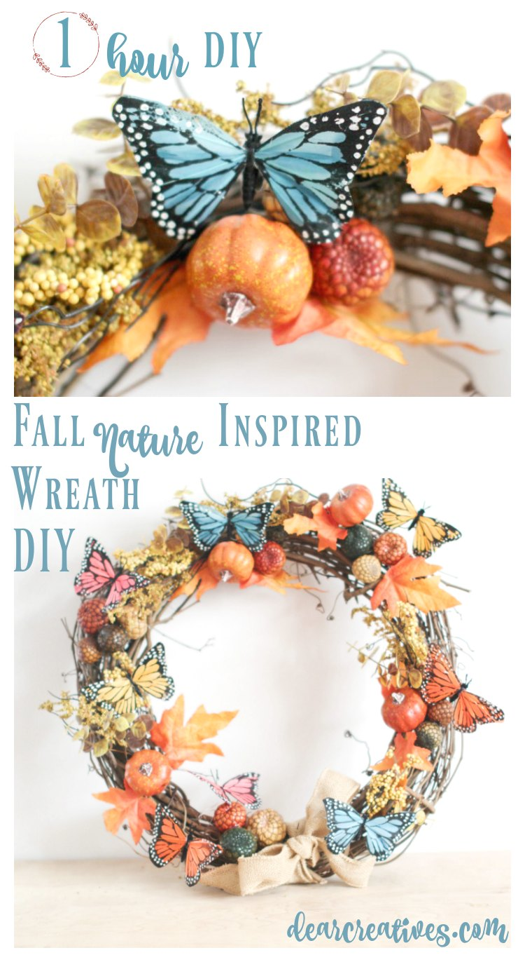 Grapevine Wreath Ideas Fall Nature Inspired 1 hour wreath DIY .jpg