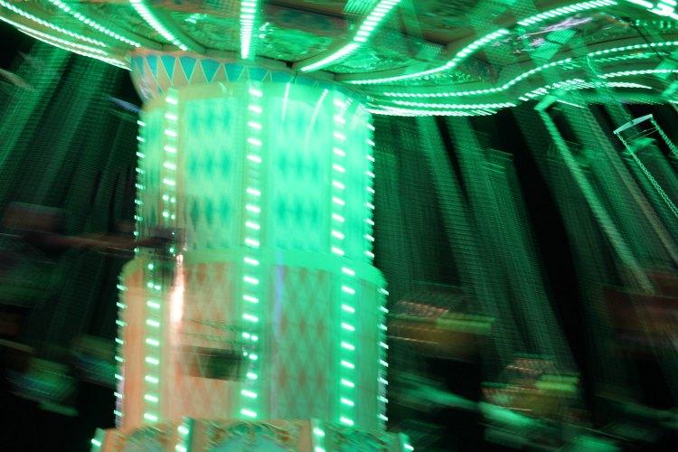Mid State Fair fair ride swings ride at night - DearCreatives.com