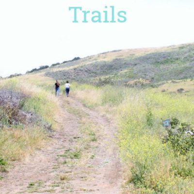 San Luis Obispo, California Botanic Garden and hiking trails. Hiking Into A Scenic View
