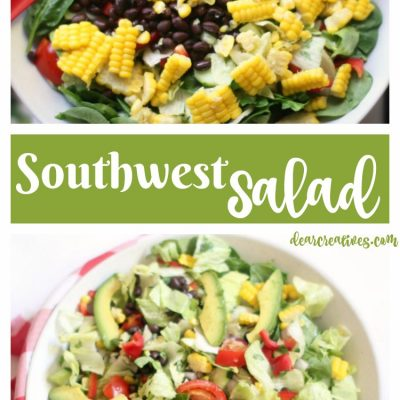 Easy Must Try Southwest Chopped Salad With Black Beans, Corn And Avocado