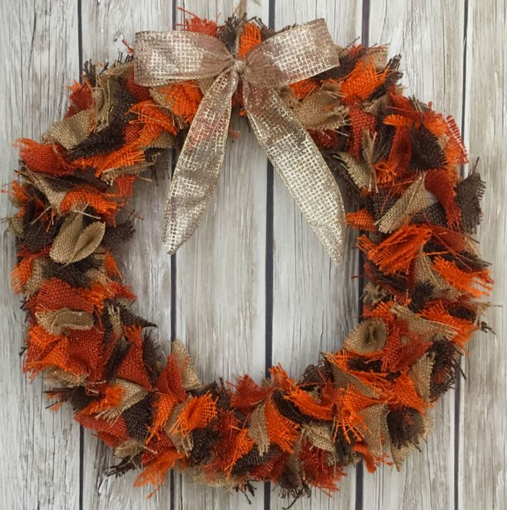 Craft Kit Fall Burlap Wreath