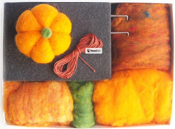 Craft Kit Pumpkin Needle Felting kit