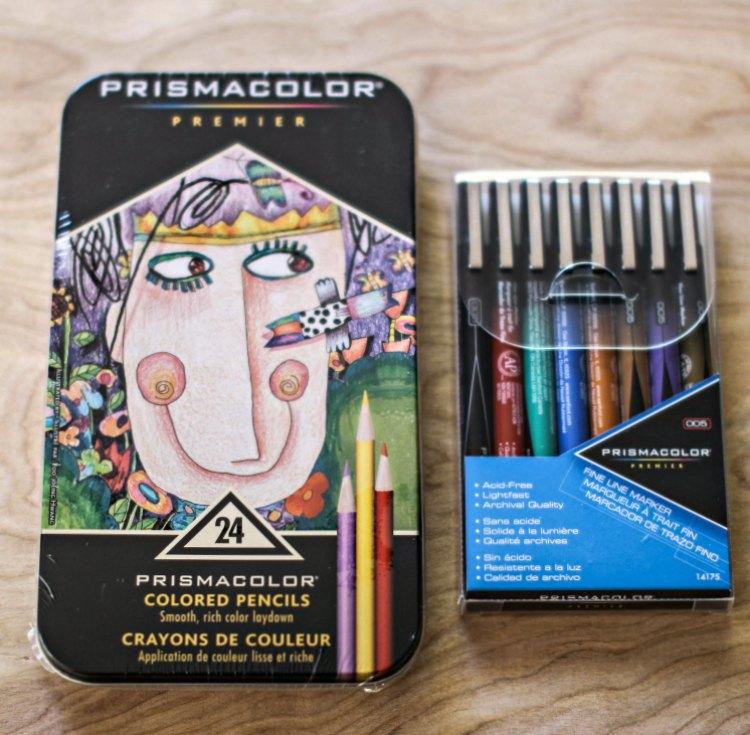 art supplies PrismaColor Premier Art supplies colored pencils and fine tip pens- DearCreatives.com