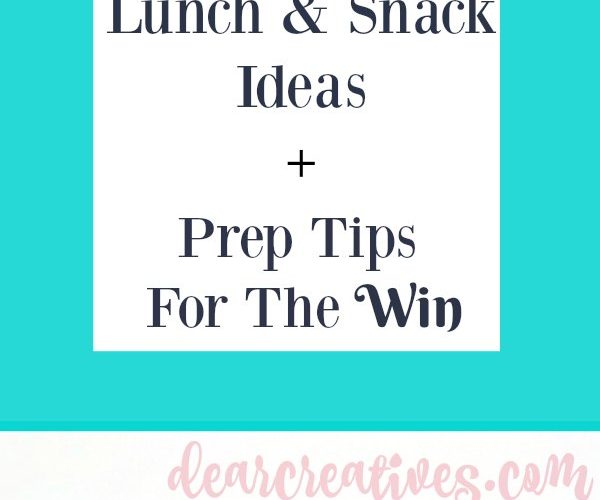 Are you battling the daily grind of making, and packing lunches, and snacks Grab these lunch, and snack ideas. Winning lunch hacks. DearCreatives.com