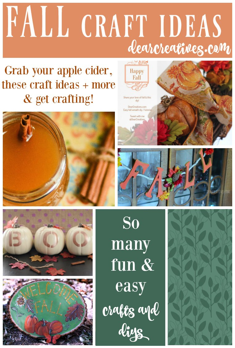 Fall craft ideas fun and easy fall crafts and diy projects for Easy diy fall crafts