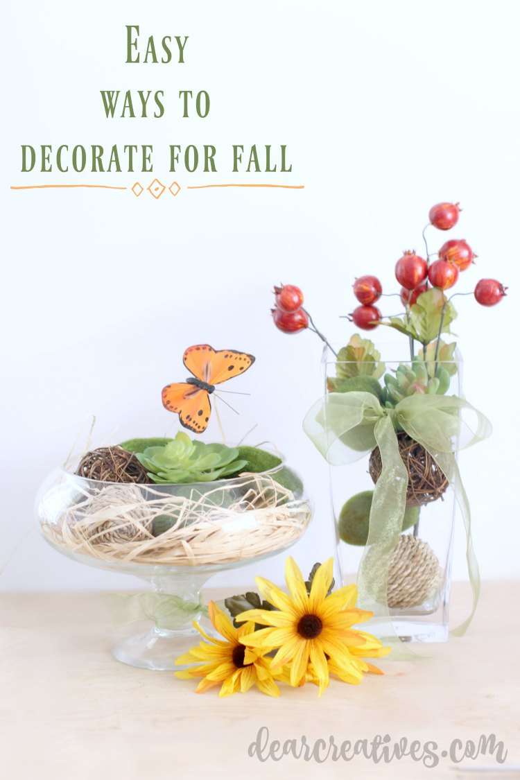 Easy DIY Center Pieces - Easy Ways To Decorate Your Home Seasonally
