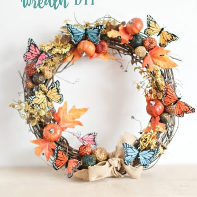 Grapevine Wreath Ideas- DearCreatives.com-This grapevine wreath tutorial also has a video to show you how easy it is to decorate your own grapevine wreath. Step by step tutorial and tips. This fall wreath is so easy to make in an hour.
