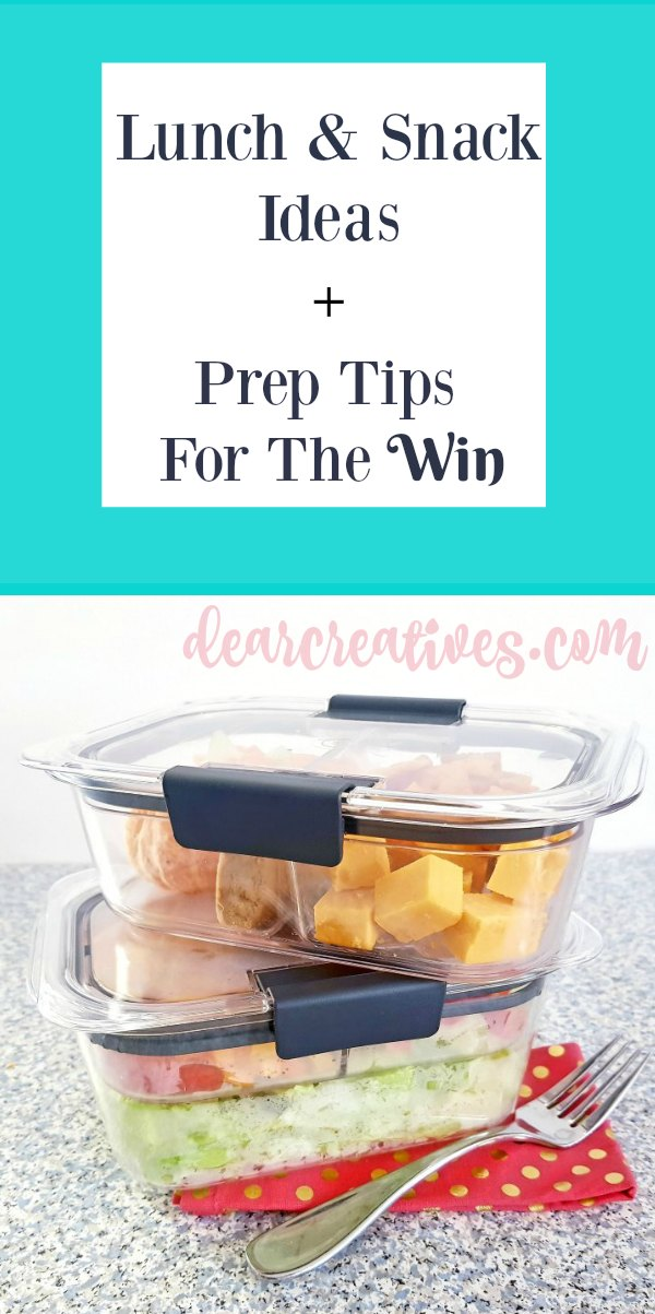 Lunch and snack ideas. Prep tips to make taking lunches to work, school or picnics easier. See lunch ideas, and tips at DearCreatives.com