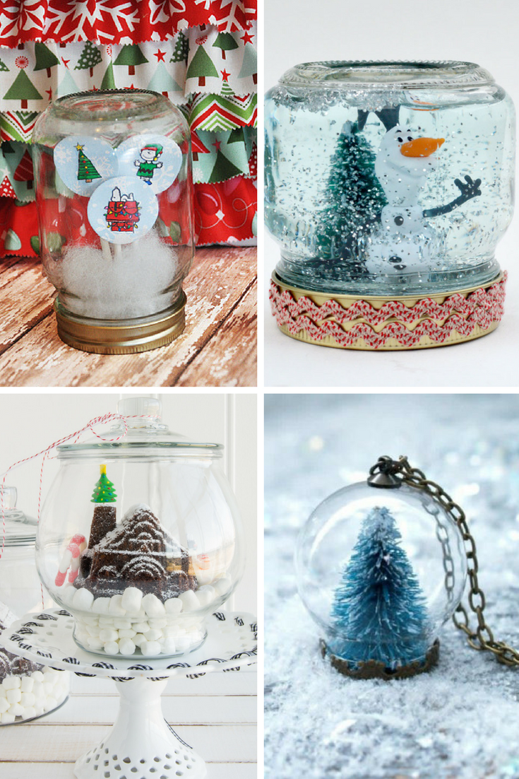 Snow Globe Crafts - Craft Ideas for Snow Globe Crafts to make. 14 Snow Globes to DIY This Christmas