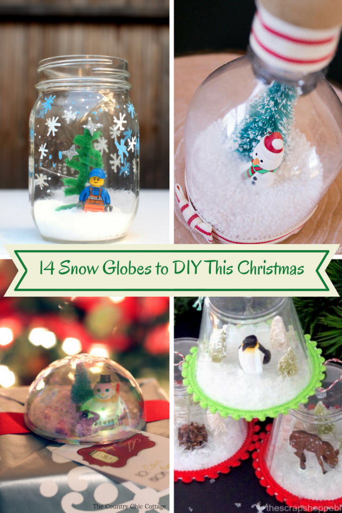 Snow Globe Crafts-Looking for fun and easy snow globe crafts or DIYs? 14 Snow Globes to DIY This Christmas See all these great Christmas crafts at DearCreatives.com