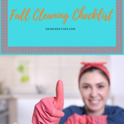 Cleaning Checklist grab this 9 page fall cleaning checklist at DearCreatives.com You'll love how this will help save you time & prepare you for fall inside and outside your home. #fallcleaningchecklist #homecleaningchecklist