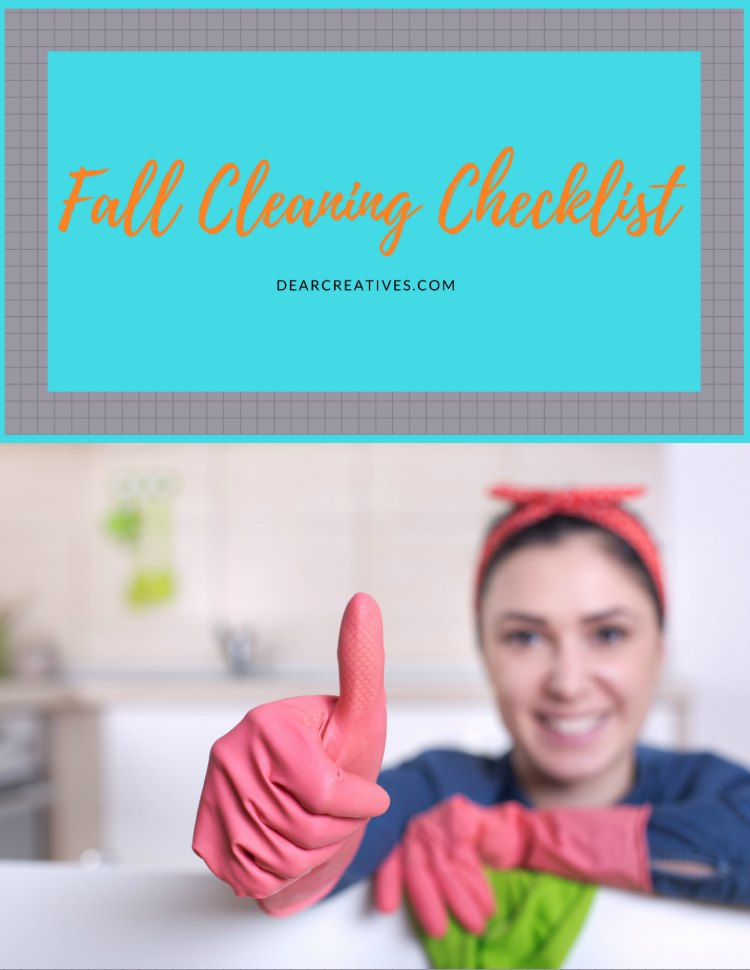 Cleaning Checklist grab this 7 page fall cleaning checklist at DearCreatives.com You'll love how this will help save you time & prepare you for fall inside and outside your home.