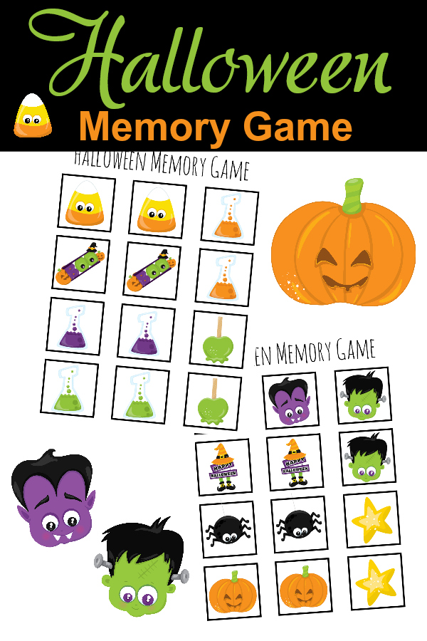 Free printables, this is free and fun stuff for the kids; Halloween Memory Game