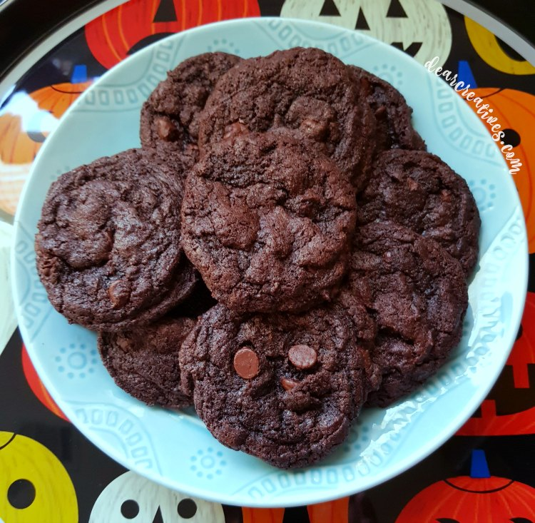 The best organic double chocolate chip cookies. An easy treat recipe.