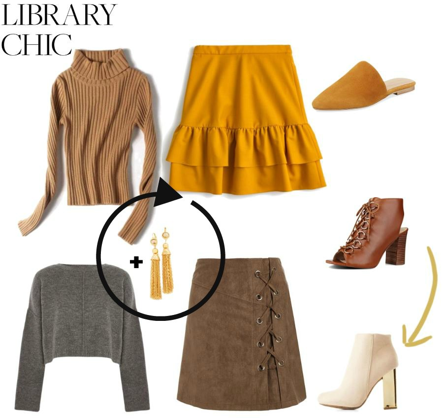 how to get the look; library chic fashions DearCreatives.com