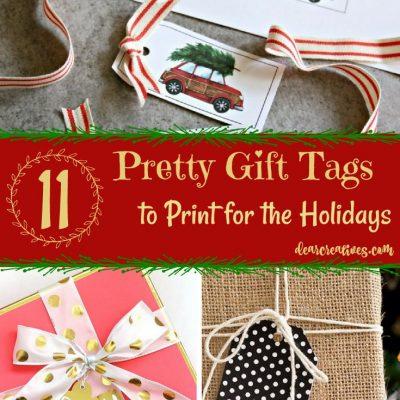 Free Pretty Printable Christmas Holiday Gift Tags and Other Free Holiday Printables