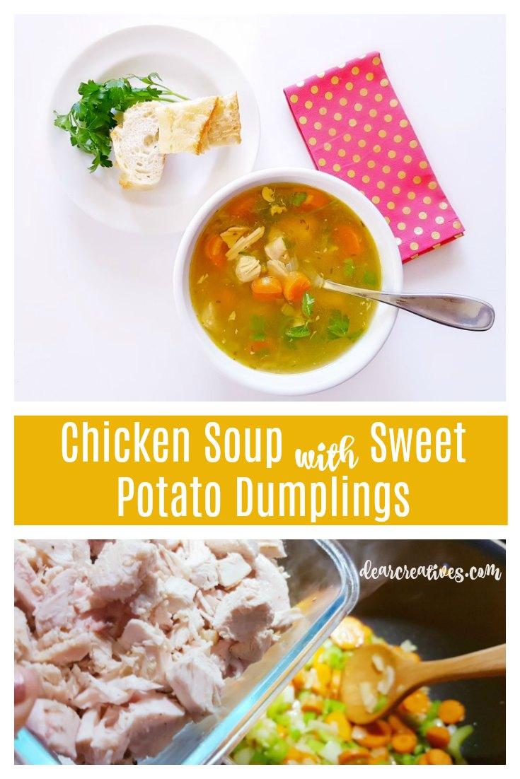 Chicken Soup With Sweet Potato Dumplings Recipe
