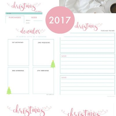 Christmas Planner Free Printables Holiday Planner Set Everything you need to keep you organized for the Christmas holiday season. From purchases, to gift plannning, recipes, see all 10 free Christmas planner sheets at DearCreatives.com.jpg