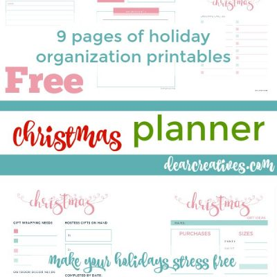 Pretty Christmas Organization Holiday Planner with Checklists