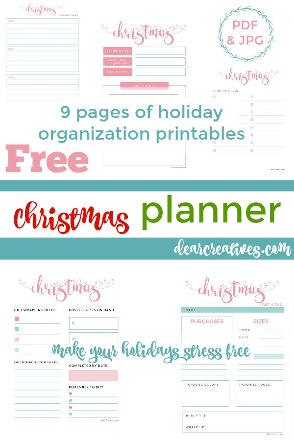 christmas planner printables grab your own set of free printables 9 pages in this christmas
