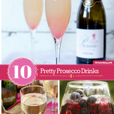 10 Pretty Processco Party Drinks + How to Set Up A Beverage Station