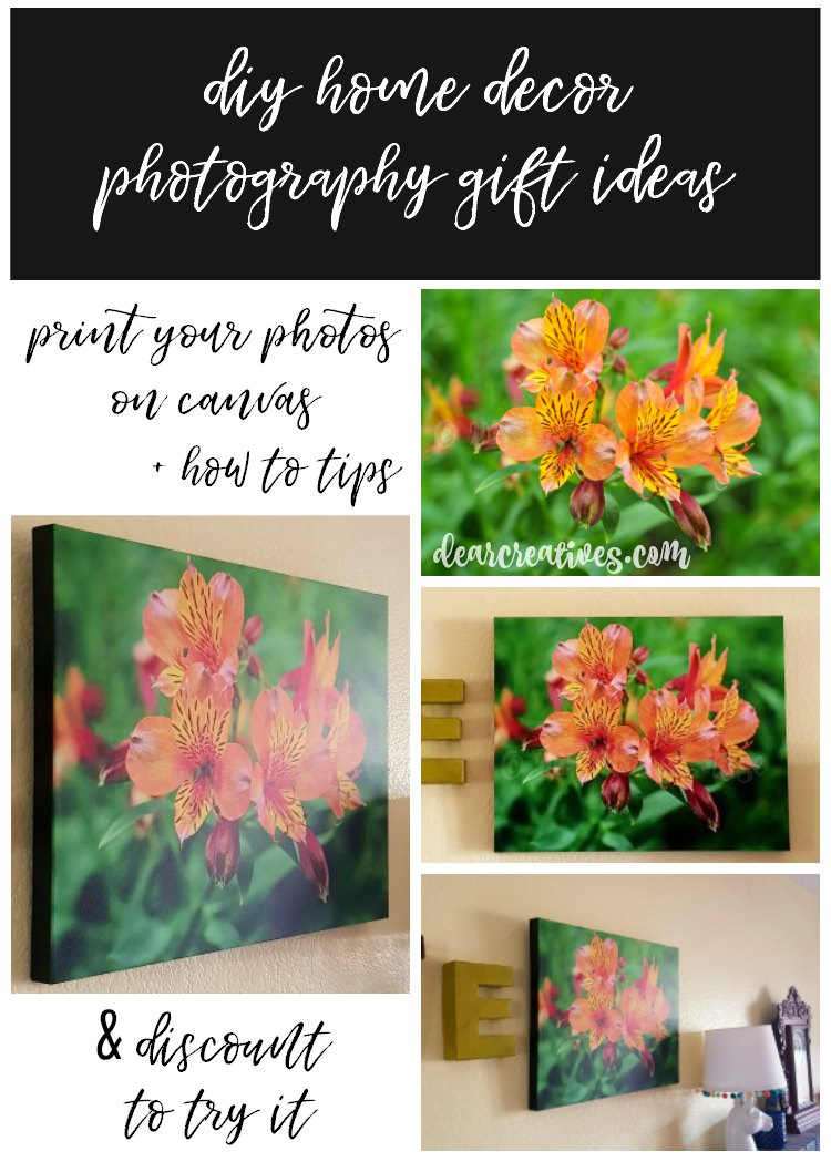 Home Decor DIY Photography Gift Ideas +Tips for Printing Photos on Canvas, and 60% Discount!