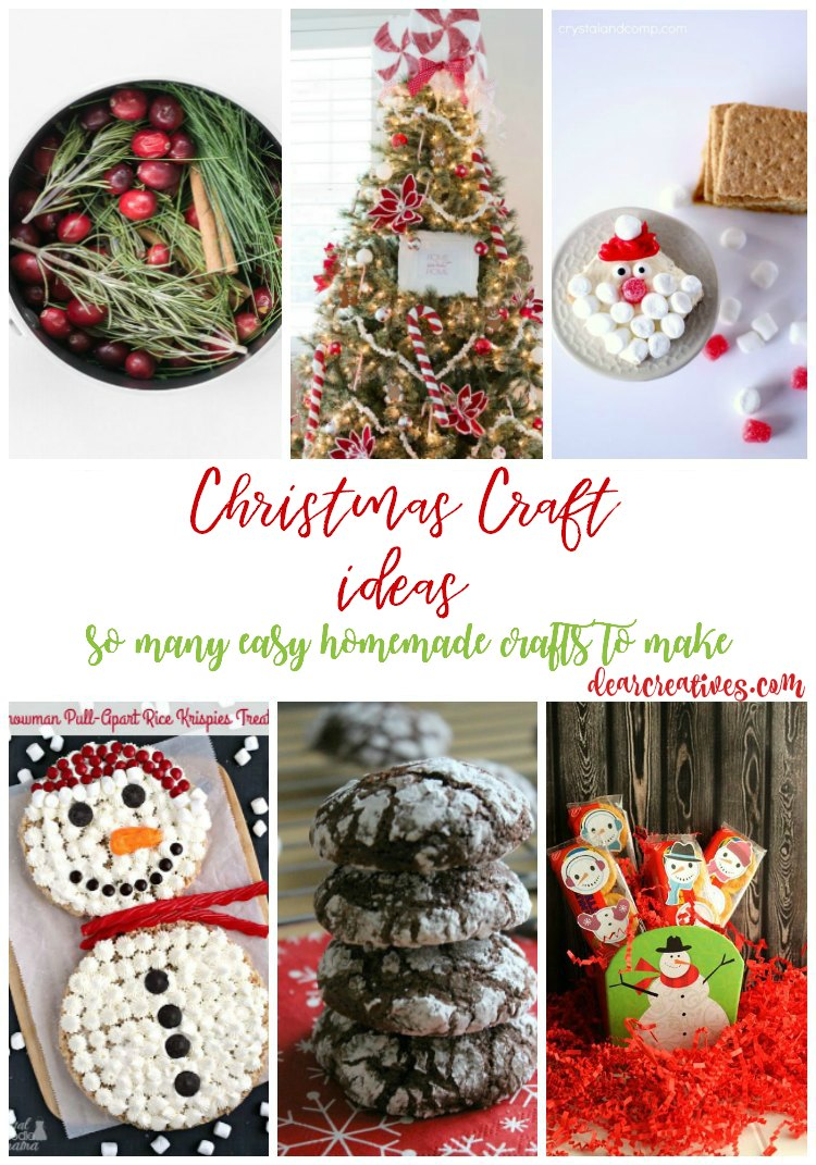 Christmas craft ideas so many easy homemade crafts to make. DearCreatives.com