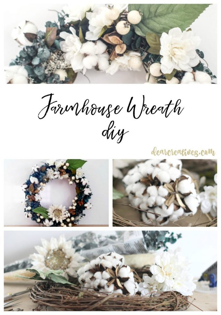farmhouse wreath diy decorate a grapevine wreath farmhouse
