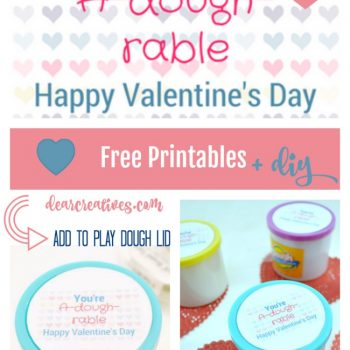 Free Printable and DIY For Homemade Valentine's Kids Gift