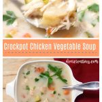 crockpot chicken vegetable soup. This is an easy must try, soup! #crockpotchickensoup #chickenvegetablesoup DearCreatives.com