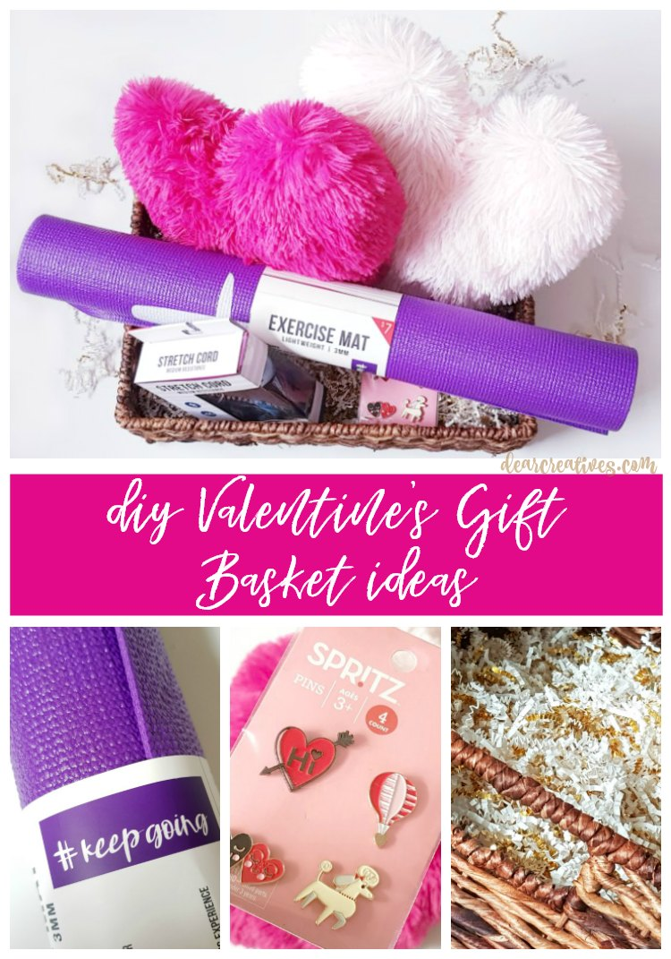 Diy valentine 39 s day gift basket ideas to make at home for Valentine day at home