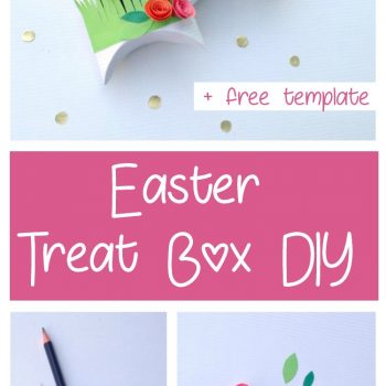 Easter Treat Boxes DIY With Free Template